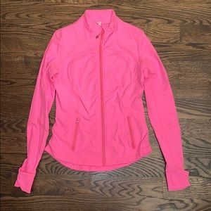 Lululemon Define Jacket - Bright Pink, Size 8